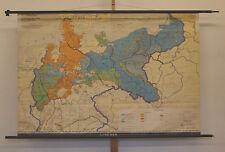 Scheda crocifissi di Prussia prussiano 1815-1945 179 x121cm 1962 VINTAGE Prussia Map