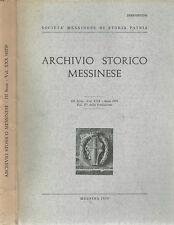 Archivio Storico Messinese Vol. XXX