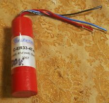 CE Mfg Capacitor Tubular C-ER33-47-47 47uF (red) 47uf (red) 33uF (blue)