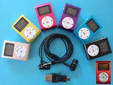 MP3 Player mit LCD Screen bis 8GB Micro SD Karte Clip-Funktion Aluminium Metall