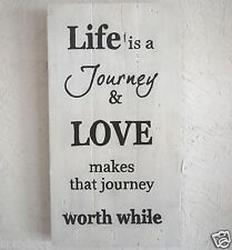 Handmade Reclaimed Pallet Sign Life Is A Journey Theme Hand Painted Wall Plaque