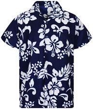 Funky Camicia Hawaiana Hibiscus Blu B merci