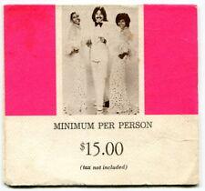 Vintage Advertising Nightclub Table Tent: Tony Orlando & Dawn