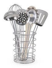Melissa & Doug Stir and Serve Cooking Utensils(7 pcs) - Stainless Steel and Wood