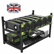 More details for veddha aluminum 6 gpu mining rig case open air frame stackable ethereum btc