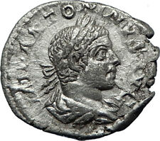 ELAGABALUS 218AD Authentic Genuine Ancient Silver Roman Coin Providence i70195