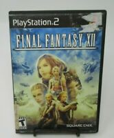 FINAL FANTASY XII PS2 PLAYSTATION 2 GAME, GAME DISC, CASE, MANUAL, SQUARE ENIX