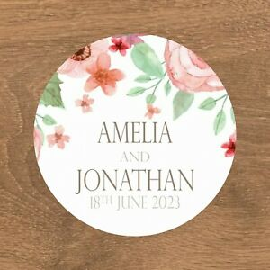 Personalised Wedding Stickers Favour Labels (E-027)