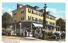 Pen Mar Pennsylvania Crouts Hotel Street View Antique Postcard K31845