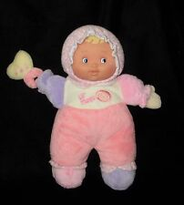 Berenguer Babies  Lil' Hugs Pink Baby Doll Plush Rattle Soft Toy Stuffed 12""