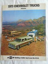 Chevrolet USA Suburban brochure 1973 USA market