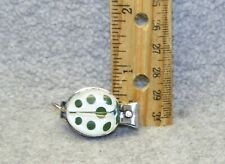 Vintage ladybug or insect white, green spots mini novelty fingernail clippers