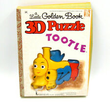 Vintage 70s A Little Golden Book 3D Puzzle Tootle The Train ~ RARE