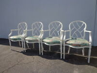 4 Florentine Armchairs Heritage Furniture Dining Chairs Regency Shabby Chic
