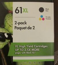 Genuine HP 61XL Black & Tri Color Combo Pack Ink Cartridges Exp. 2020 New