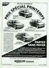 Publicité Advertising 1120  1987  Austin Rover   Maestro Mini E Metro spécial