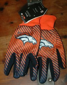 Denver Broncos Sport Utility Gloves MEN's one size fits most new with tags NFL