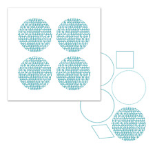 Screen Sensation 12 x 12 Screen & Stamp Set - Circle - New & Sealed
