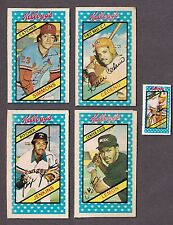 1980 Kelloggs 3D Cereal Box Card Lot Fergie Jenkins Cedeno Simmons Lemon Palmer