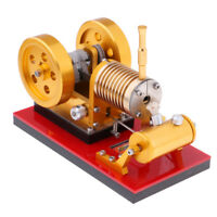 Stirling Engine Heat Steam Power Model Double-flywheel Device Education Toy