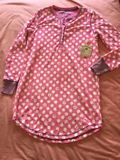BNWT Women s PJ Salvage Round Dots Pink Nightshirt S d80773a7e