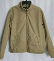 Tommy Hilfiger Fleece Lined Full Zip Heavy Jacket Coat Beige Mens Large