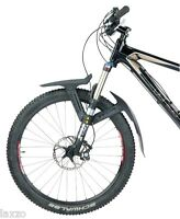 "Topeak DeFender XC1 Front Shock Fender 2 Piece Black 26"" 29"" MTB Suspension Fork"