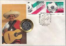 Fußballweltmeisterschaft Mexiko 1986 - Numisbrief, Mexiko