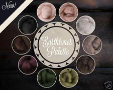 Earthtones Color Palette Wool Roving Fiber 2.5ozs/70 grams Felting Spinning Soap
