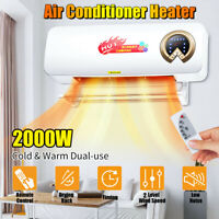 2000W 220V Remote Air Conditioner Electric Heater Wall-Mounted PTC Heater Xmas