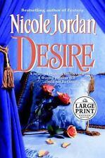 Desire by Nicole Jordan (2003, Hardcover, Large Type)