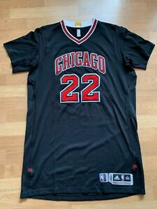 Taj Gibson game worn Chicago Bulls black jersey, 3XL+4