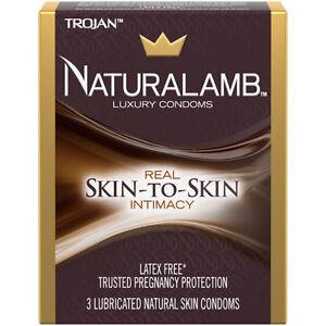 Trojan NATURALAMB + Silver Lunamax Pocket Case Lubricated Lamb Skin Condoms