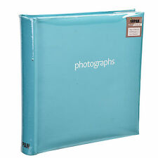 "NUOVO 10 x 15 cm Large Blu Pastello Photo Album per 200 foto's 6 x 4"" sm200blue"