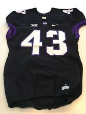 Game Worn Used Nike TCU Horned Frogs Football Jersey #43 Size L
