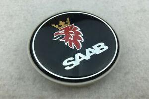 4Pcs 63mm Car Wheel Center Caps Emblem Sticker Decal Badge Black Logo For SAAB