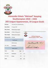 Michael mantenendo Southampton 1919-1933 RARE mano originale firmato di taglio
