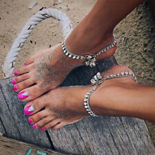 Silver Gold Gypsy Indian Bell Charm Ankle Bracelet Anklet foot Chain Jewelry S