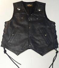 Harley Davidson S Heritage FLSTS Springer Leather Vest Vtg Conchos 98241-94VM