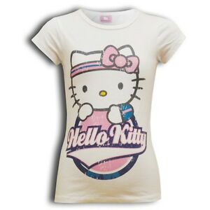 Official Hello Kitty girls' short sleeved t-shirt top 3 - 10 years