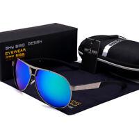 Polarized Drving Sunglasses Men's Aviator Retro Metal Outdoor Sports Sun Glasses