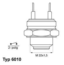 Aible Température Interrupteur, Refroidisseur Ventilateur Refroidissement Pour 6010.92d