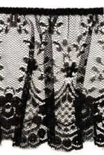 Amazing Black color ruffled lace trim 3  1/2 inch wide - price for 1 yard