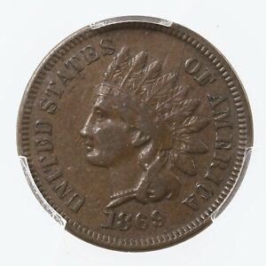 1869 Indian Head 1C PCGS Certified VF30 Very Fine Graded Copper Small Cent