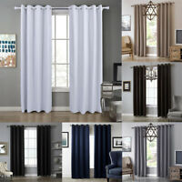 Luxury Thermal Blackout Curtains Ready Made Eyelet Ring Top Single Panel