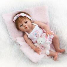 "Pinky 20"" Reborn  Girl Doll Realistic Look Full Body Silicone Vinyl Dolls"