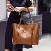Large Oil Wax PU Leather Women Handbag Retro Shoulder Bag Messenger Tote Bags