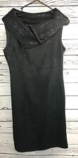 Tahari Womens Size 4 Black Lined Classic Dress Beautiful Holiday Shimmer Little