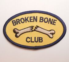 BROKEN BONE CLUB BIKER MOTORCYCLE JACKET VEST BADGE IRON ON PATCH MADE IN USA