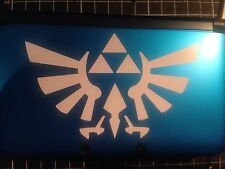 √ 1x WHITE THE LEGEND OF ZELDA HYRULE CREST DECAL FOR 3DS XL GAME CONSOLE √